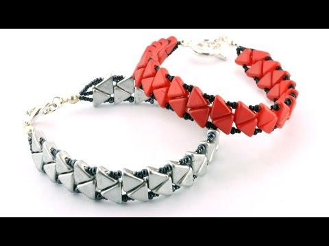 Passing Arrows Bracelet using Khéops® Par Puca Beads®