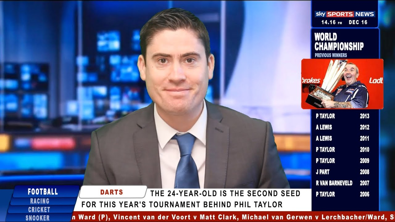 Blind Darts Player - Sky Sports News Report