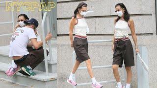 Bella Hadid & boyfriend Marc Kalman go to Walkers for a lunch date followed by a sidewalk photoshoot
