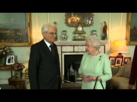 Incontro del presidente mattarella con s m la regina for La regina elisabetta 2