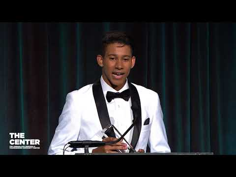 Keiynan Lonsdale, Youth Advocacy Award, Center Dinner 2018
