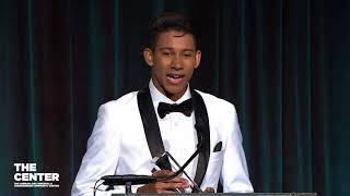 Keiynan Lonsdale, Youth Advocacy Award, Center Dinner 2018
