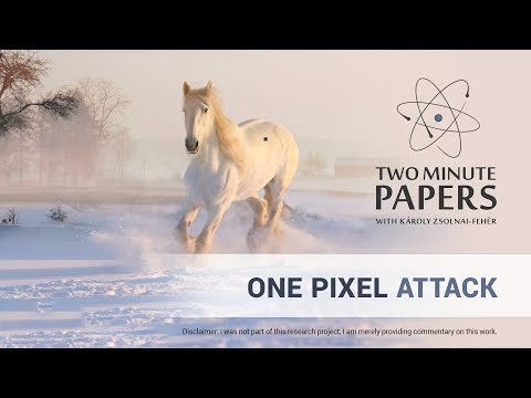 One Pixel Attack Defeats Neural Networks | Two Minute Papers #240