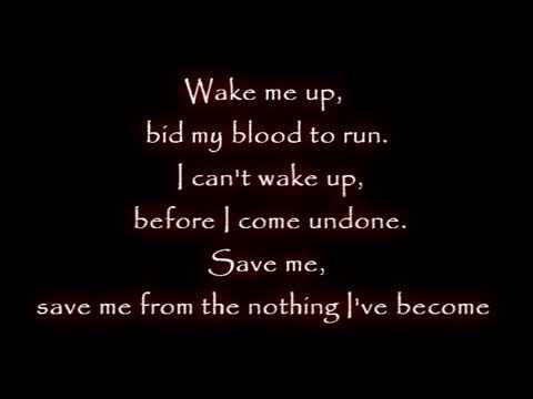 Evanescence - Wake Me Up Inside - Lyrics