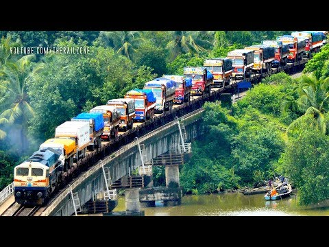 RORO Train | Trucks on RAIL | Best of KONKAN Railways