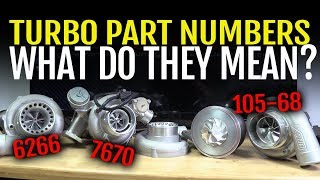 Turbo Tech - What Do The Part Numbers Mean?