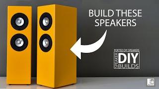 DIY Mini Tower Speąker Build - Markaudio CHN-50. DIY Speaker. How to build your own speakers.