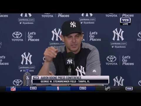 Conferencia de prensa completa del coach Aaron Boone de los New York Yankees hablando sobre todo!
