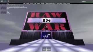 WWF Raw Is War! Roblox Arena made by: KingKrisIII