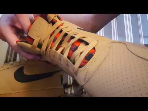 online retailer f2e1c e927f Nike Court Borough Mid Premium Leather Plad Hightop Unboxing