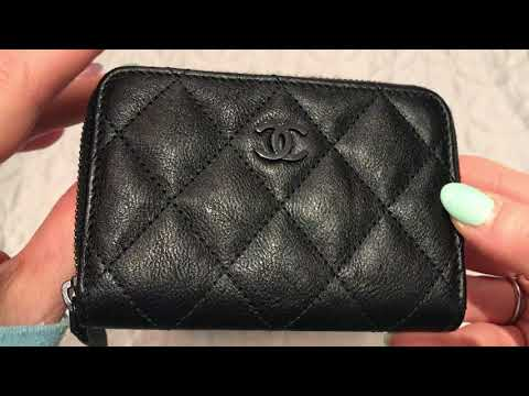 CHANEL SO BLACK RECTANGULAR MINI AND ZIPPY COIN PURSE ONE YEAR WEAR AND TEAR REVIEW