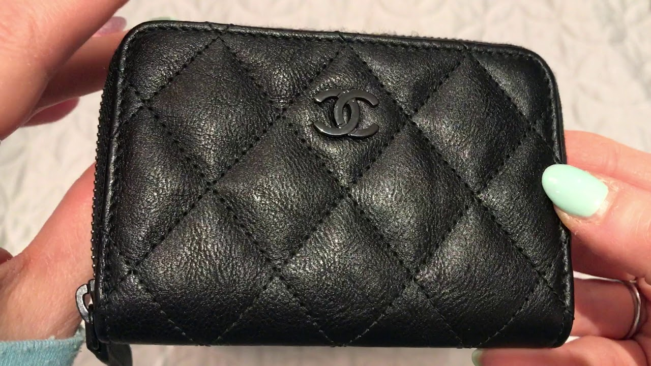 d3970afd CHANEL SO BLACK RECTANGULAR MINI AND ZIPPY COIN PURSE ONE YEAR WEAR AND  TEAR REVIEW