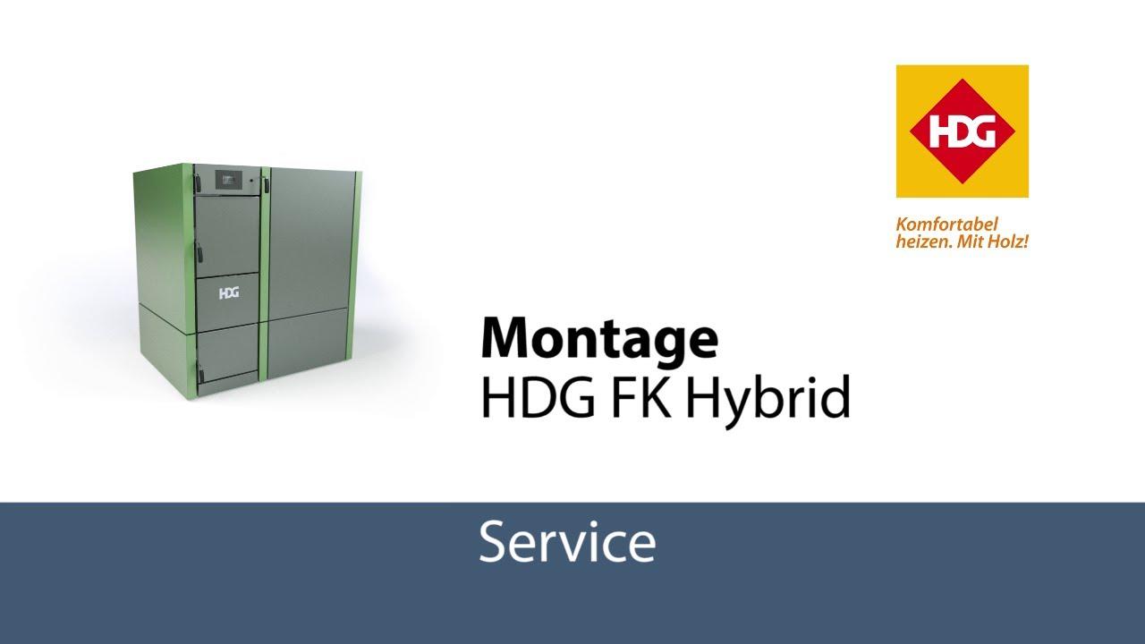 Montage Scheitholz-/Pelletkombination HDG FK Hybrid Kombikessel ...