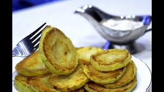 Жареные кабачки - самый простой рецепт./Fried zucchini.