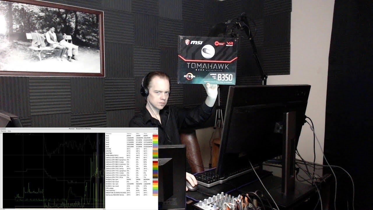 MSI B350 TOMAHAWK Sensors (RYZEN/Linux)