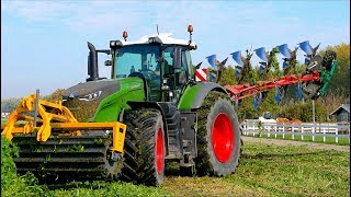 Ploughing Cover Crop | FENDT 1050 vario + Kverneland LO100 on-land / Dondi Cut Roller | Immink