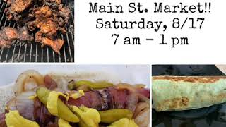 Fannie's Grille at the Park Forest Main St. Market!! Saturday, 8/17 7 am - 1 pm