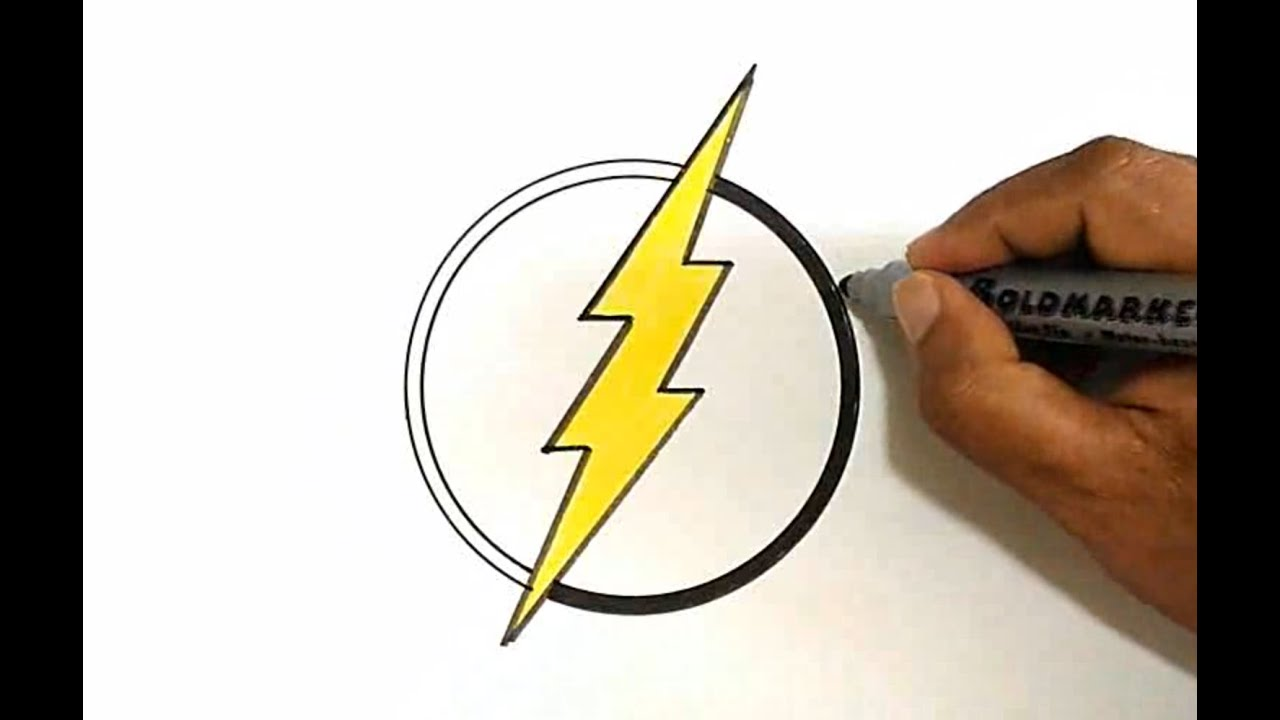 how to draw the flash logo youtube