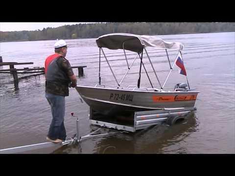 Установка дистанции на лодку Вельбот 37