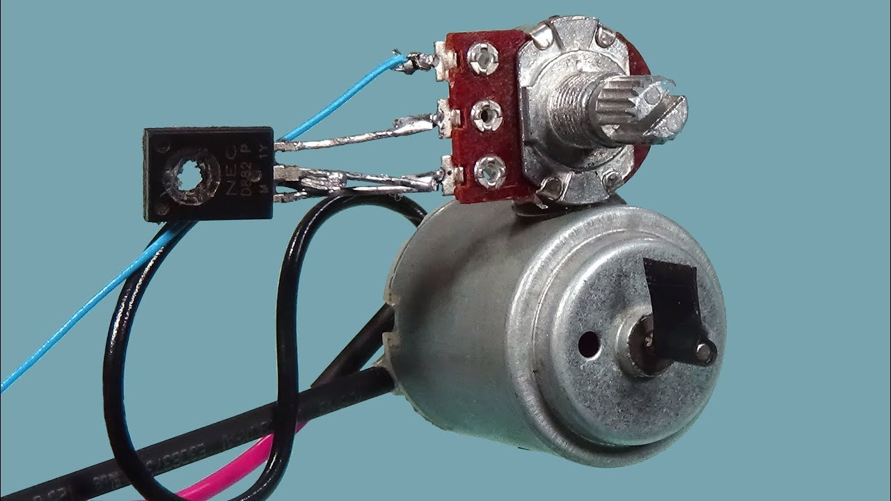 How To Make 12 Volt DC Motor Speed Controller Simple Diy