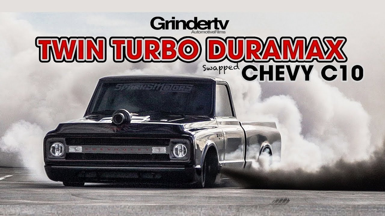 Twin Turbo Duramax Chevy C10 - YouTube