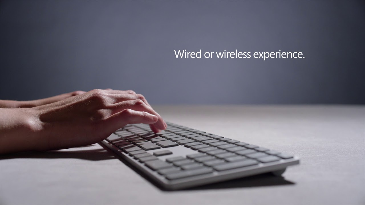 d146cd9d243 Microsoft Modern Keyboard with Fingerprint ID - YouTube