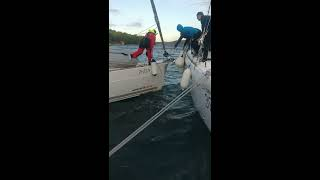 Island Žut CROATIA 2018 mooring in Bora accident Sail Boat Impression 40 Algiz