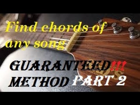 How to Find Guitar chords of any song - Part 2 - YouTube