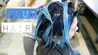 Смотреть видео  если волосы покрасились в голубой цвет
