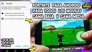 New APK OF FORTNITE FOR ANDROID for ALL LOW,MEDIA,HIGH-DOWNLOAD MOBILE - FREE DOWNLOAD