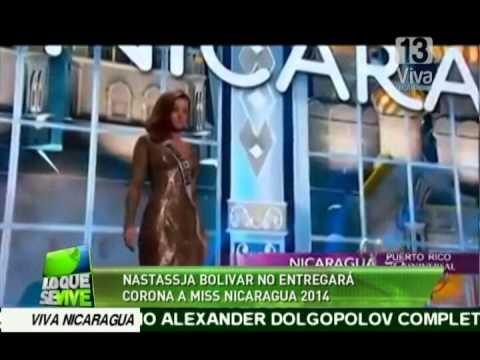 Nastassja Bolívar no entregará la corona a Miss Nicaragua 2014