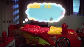 Disney Cars Lightning Mcqueen Toddler Bed With Storage   Closer