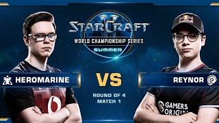 HeroMarine vs Reynor TvZ – Playoff Ro4 – WCS Summer 2019