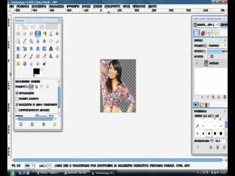 Eliminare sfondo bianco immagine gimp