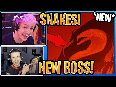 "Streamers React to *NEW* Season 8 ""Snake Boss"" Coming to Fortnite! (Teaser #2) - Fortnite Moments thumbnail"