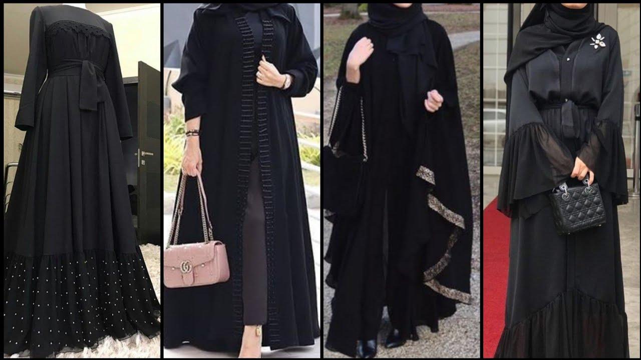 Download Simple New Black Abaya Designs || Jet Black Abaya Designs 2020-2021/ Burka Designs - Dubai Abaya