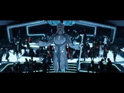 Tron: Legacy: Zuse Chapter  Fight and Elevator Fall Scenes Derezzed and Fall HD