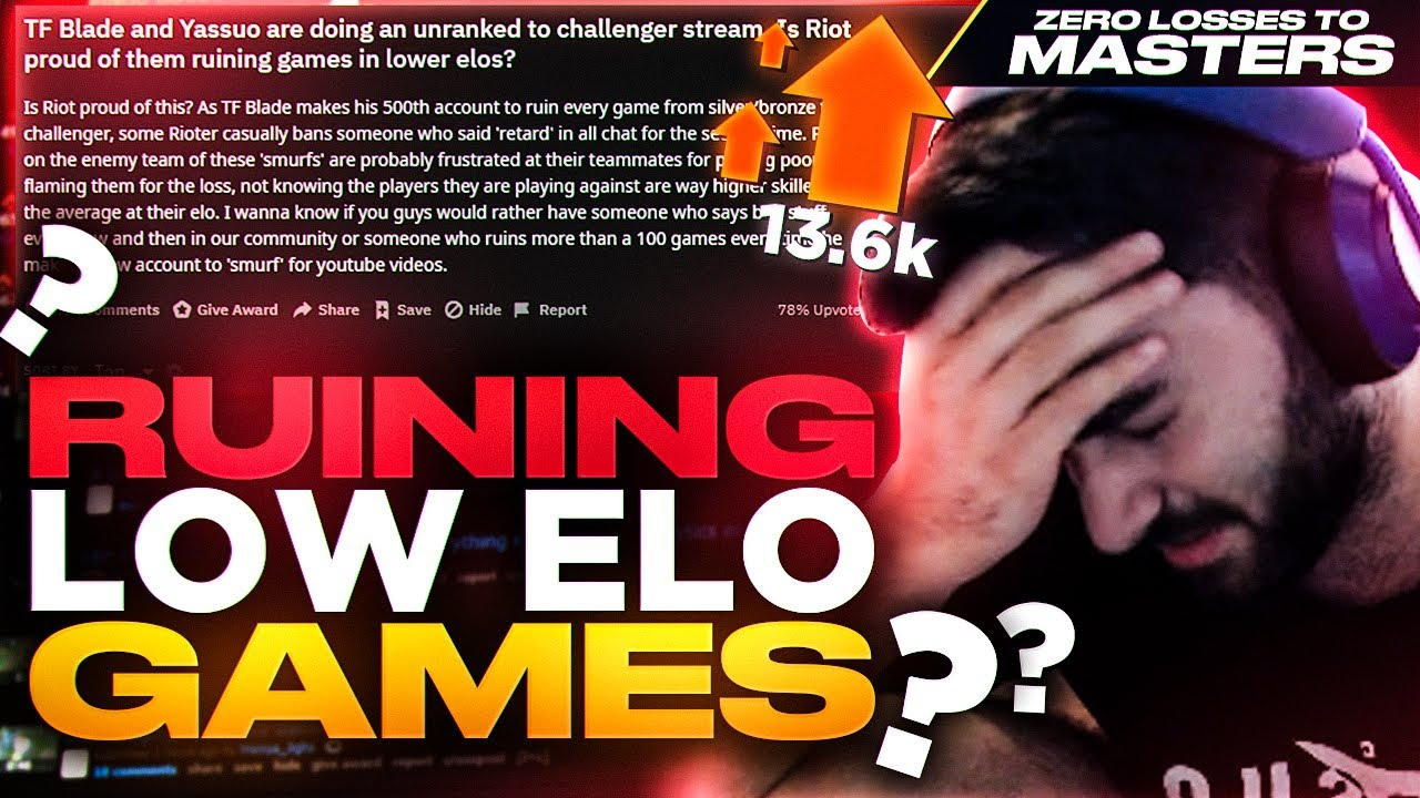 Yassuo | ARE WE RUINING LOW ELO GAMES?? (ZERO LOSSES TO MASTERS CHALLENGE) [Episode 3]