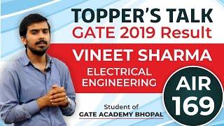Topper's Talk   Vineet Sharma   AIR 169   GATE 2019