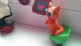 Пластилиновый мультик кот Борис и мышка Соня