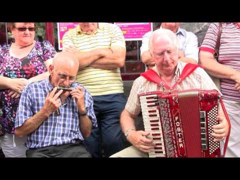 CAVAN FLEADH 2012  Mick Foster (Foster & Allen), plays accordion with  Noel Battles on mouth organ.