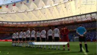 2010 FIFA World Cup: South Africa - Gameplay 1: Germany vs Spain