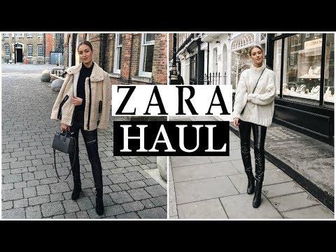 HUGE ZARA HAUL & TRY ON   JANUARY 2018 WINTER SALE!!