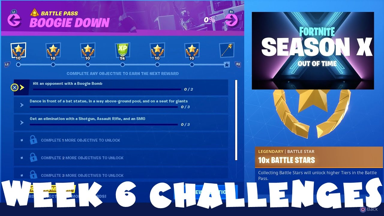 All Week 6 Season 10 Challenges Guide Boogie Down Fortnite Battle Royale
