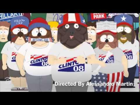 Hillary Clinton barking w/ South Park Hildog