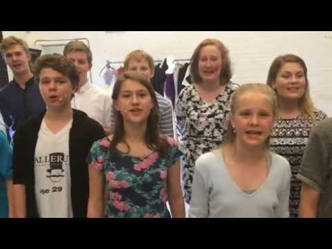 Teatergruppen KLIMA B&U øver på Pippi