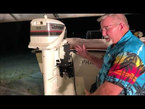 Johnson 9 9 kicker motor mount install and test Garelick mount