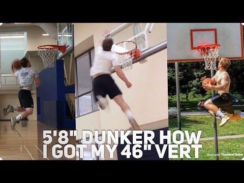 "5'8"" Dunker - How I Increased My Max Vert 20"" (Dunk Motivation)"