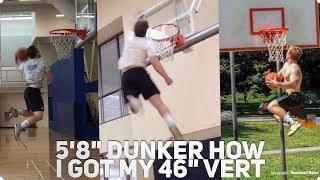"5'8"" Dunker - How I Increased My Max Vert 20"" (Dunk Motivation) Video"