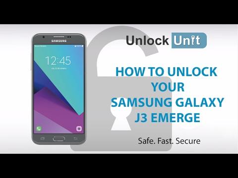 HOW TO UNLOCK Samsung Galaxy J3 Emerge  YouTube